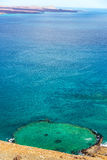 Underwater Crater Vertical in Galapagos Stock Photos