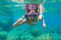 Underwater de exploração fotografia de stock