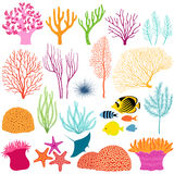 Underwater design elements Royalty Free Stock Images