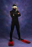 Underwater diver Royalty Free Stock Photography