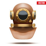 Underwater diving helmet. Vector Illustration Stock Photography