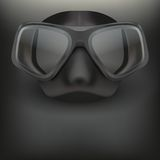 Underwater diving scuba mask vector Royalty Free Stock Photography