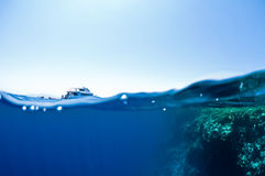Underwater e cielo Fotografie Stock