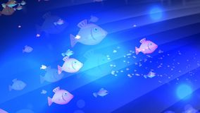 Underwater Fish Animation. A underwater animated scene with cartoon shoals of fish swimming by stock video footage