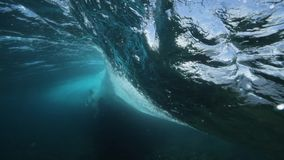 Underwater Wave Surf Slowmotion