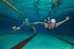 Underwater fun - couple Royalty Free Stock Photo