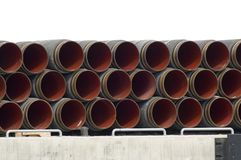 Underwater gas pipes Royalty Free Stock Photo
