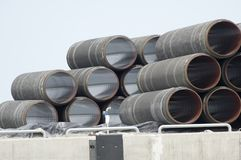 Underwater gas pipes Royalty Free Stock Image