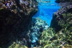 Underwater gate Stock Photo