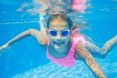 Underwater girl Stock Images