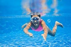 Underwater girl Stock Photos
