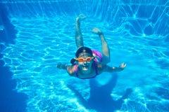 Underwater girl Stock Photo