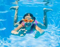 Underwater girl Stock Image