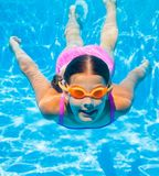 Underwater girl Stock Photography