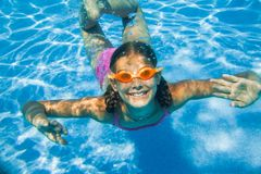 Underwater girl Royalty Free Stock Image