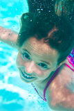 Underwater girl in the pool Royalty Free Stock Image