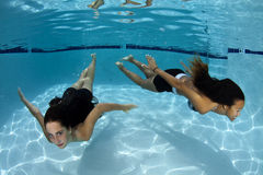 Underwater Girls Royalty Free Stock Image
