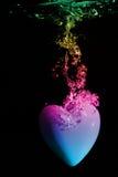 Underwater heart splash Stock Photo