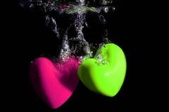 Underwater heart splash Royalty Free Stock Photo