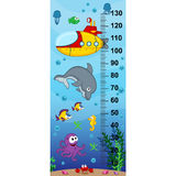 Underwater height measure (in original proportions 1:4) Royalty Free Stock Photography