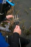 Underwater hunter royalty free stock photo