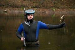 Underwater hunter royalty free stock image