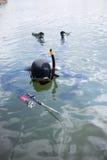 Underwater hunter. Stock Photo