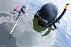Underwater hunter. Royalty Free Stock Image