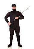 Underwater hunter man Stock Image