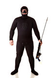 Underwater hunter man Stock Photos