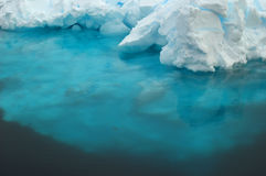 Underwater ice. Of Antarctic iceberg Stock Photos