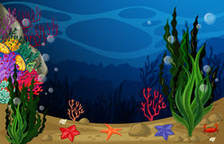 Underwater. Illustration of a view underwater Royalty Free Stock Photography
