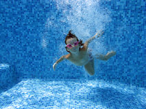 Underwater kid Stock Photos