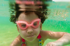 Underwater kid Stock Images