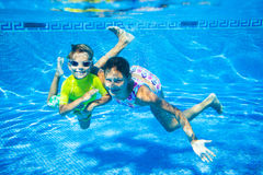 Underwater kid Royalty Free Stock Photos