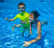 Underwater kid Royalty Free Stock Images