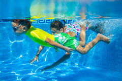 Underwater kid Royalty Free Stock Photo