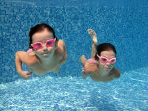 Underwater kids Royalty Free Stock Photo