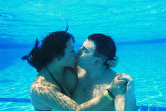 Underwater kiss Royalty Free Stock Image