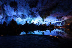Underwater lake in Reed Flute Caves in Guilin, China Stock Image