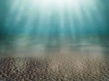 Underwater landscape background - 3D rendered image Stock Image