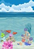 Underwater landscape background Stock Photography