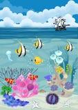 Underwater landscape background Stock Image