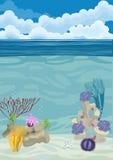 Underwater landscape background Stock Photos