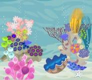 Underwater landscape background Royalty Free Stock Image