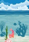 Underwater landscape background Stock Images