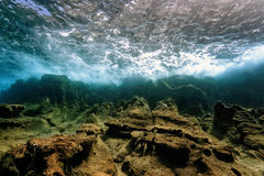 Underwater landscape in the Mediterranean royalty free stock photos
