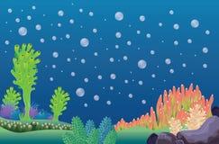 Underwater landscape vector background. Underwater landscape - background vector illustration cartoon background for design Royalty Free Stock Image