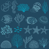 Underwater life design elements Royalty Free Stock Photography
