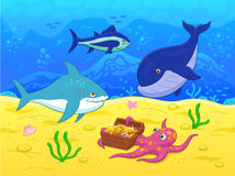 Underwater life illustration Royalty Free Stock Image